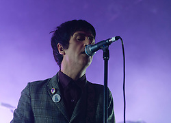 "© Licensed to London News Pictures. 15/03/2013. London, UK.   Johnny Marr performing live at Shepherds Bush Empire. Currently promoting his debut solo album ""The Messenger"", Marr is renowned for his time with The Smiths as co-songwriter & guitarist alongside Morrissey between 1982-1987.   Photo credit : Richard Isaac/LNP"