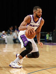 November 19, 2017 - Reno, Nevada, U.S - Reno Bighorns Guard AARON HARRISON (1) drives during the NBA G-League Basketball game between the Reno Bighorns and the Long Island Nets at the Reno Events Center in Reno, Nevada. (Credit Image: © Jeff Mulvihill via ZUMA Wire)
