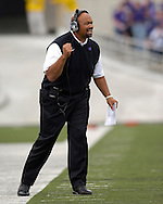 Kansas State head coach Ron Prince, coaching his first Wildcat game during the first quarter agaisn Illinois State at Bill Snyder Family Stadium in Manhattan, Kansas, September 2, 2006.  The Wildcats beat the Redbirds 24-23.