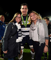 Bristol Rugby replacement Mark Sorenson poses for a photo with fans - Mandatory byline: Joe Meredith/JMP - 25/05/2016 - RUGBY UNION - Ashton Gate Stadium - Bristol, England - Bristol Rugby v Doncaster Knights - Greene King IPA Championship Play Off FINAL 2nd Leg.