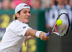 LONDON, ENGLAND - Friday, June 26, 2009: Tommy Haas (GER) during the Gentlemen's Singles 3rd Round match on day five of the Wimbledon Lawn Tennis Championships at the All England Lawn Tennis and Croquet Club. (Pic by David Rawcliffe/Propaganda)