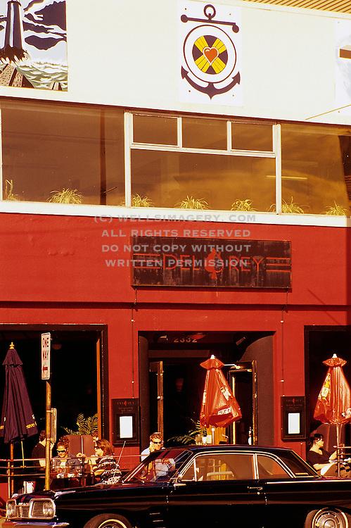 Image of trendy Belltown neighborhood, Del Rey Restaurant street scene, Seattle, Washington, Pacific Northwest