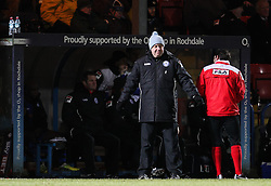 Rochdale Manager, Keith Hill - Photo mandatory by-line: Matt McNulty/JMP - Mobile: 07966 386802 - 24/02/2015 - SPORT - Football - Rochdale - Spotland Stadium - Rochdale v Sheffield United - Sky Bet League One