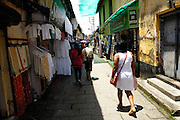 Thursday 14th August 2014: View of Jew Town shopping street in Fort Kochi.