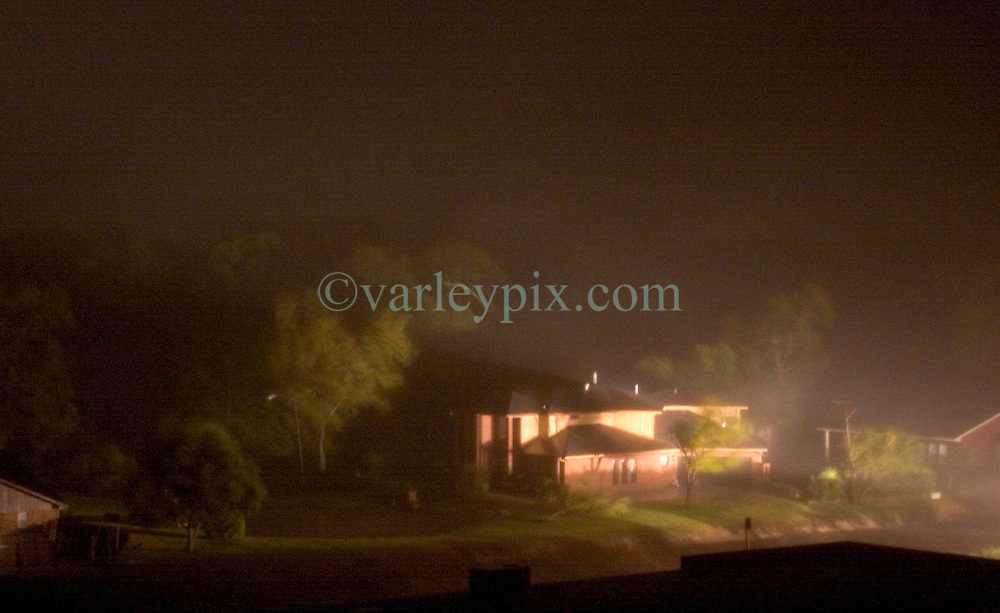 24 Sept, 2005.  Beaumont, Texas. Hurricane Rita <br /> <br /> Looking from the Hotel Elegante balcony toward a residential neighbourhood in Beaumont as Hurricane Rita roars in in the early hours of Saturday morning.<br /> Photo; ©Charlie Varley/varleypix.com