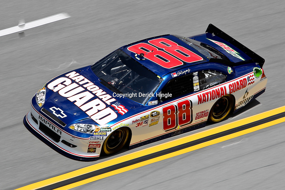 April 16, 2011; Talladega, AL, USA; NASCAR Sprint Cup Series driver Dale Earnhardt Jr. (88) during qualifying for the Aarons 499 at Talladega Superspeedway.   Mandatory Credit: Derick E. Hingle