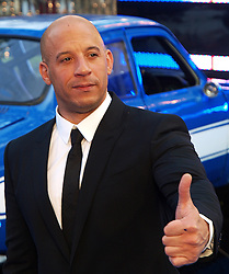 Vin Diesel at the premiere of Fast & Furious 6 in London, Tuesday 7th May 2013.  Photo by: Max Nash / i-Images