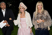 YANN AND ALFIYA KUANYSHEV AND JOANNA KULCZYK. Raisa Gorbachev Foundation Party, at the Stud House, Hampton Court Palace on June 7, 2008 in Richmond upon Thames, London,Event hosted by Geordie Greig and is in aid of the Raisa Gorbachev Foundation - an international fund fighting child cancer.  7 June 2008.  *** Local Caption *** -DO NOT ARCHIVE-© Copyright Photograph by Dafydd Jones. 248 Clapham Rd. London SW9 0PZ. Tel 0207 820 0771. www.dafjones.com.