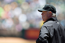 OAKLAND, CA - JUNE 21:  MLB umpire Jim Joyce #66 stands on the field before the game between the Oakland Athletics and the Los Angeles Angels of Anaheim at O.co Coliseum on June 21, 2015 in Oakland, California. The Oakland Athletics defeated the Los Angeles Angels of Anaheim 3-2. (Photo by Jason O. Watson/Getty Images) *** Local Caption *** Jim Joyce