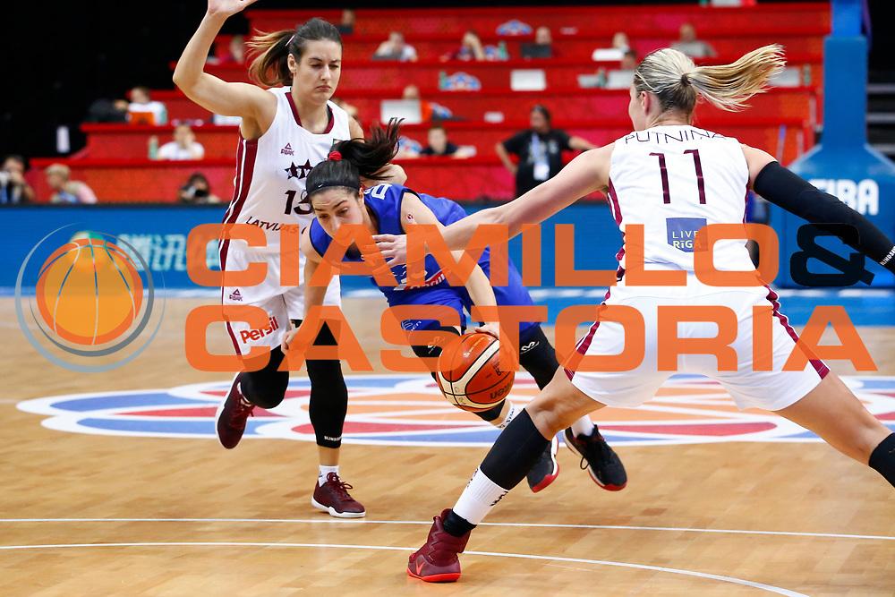 Francesca Dotto<br /> Italia - Lettonia<br /> Nazionale Femminile Senior - EUROBASKET 2017<br /> O2 Arena, Praga, 24/06/2017<br /> Foto Ciamillo-Castoria / M.Brondi