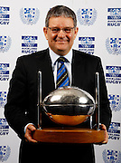 Ponsonby Chairman Peter Thorpe with the Silver Football, Auckland rugby union awards dinner, Eden Park, Auckland. 28 October 2009. Photo: William Booth/PHOTOSPORT