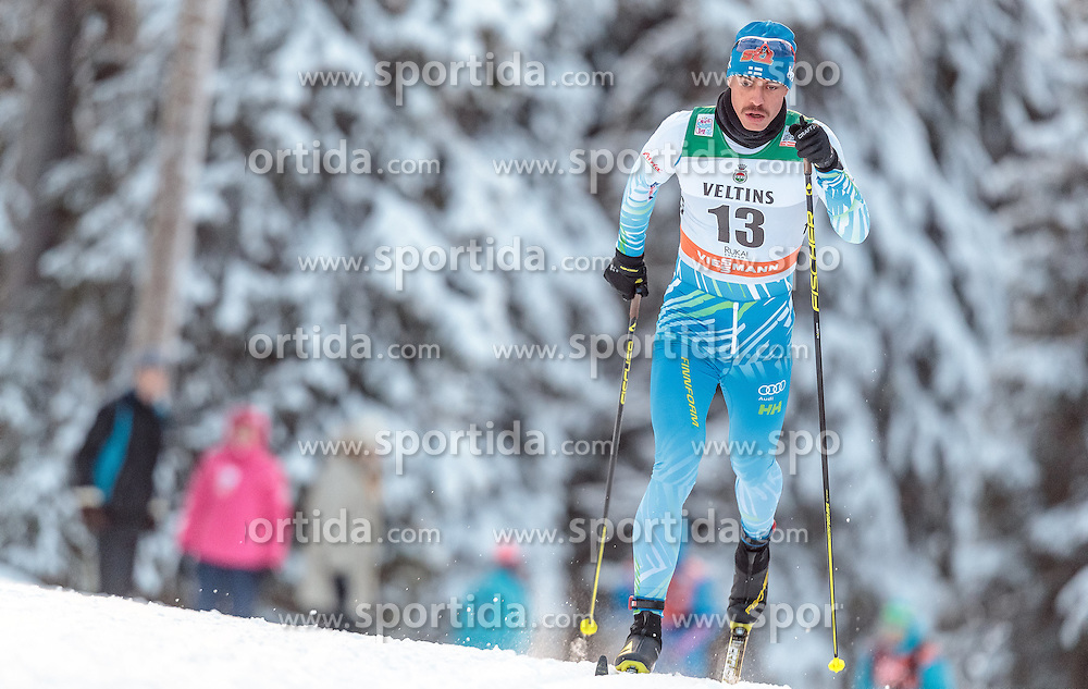 27.11.2016, Nordic Arena, Ruka, FIN, FIS Weltcup Langlauf, Nordic Opening, Kuusamo, Herren, im Bild Perttu Hyvarinen (FIN) // Perttu Hyvarinen of Finland during the Mens FIS Cross Country World Cup of the Nordic Opening at the Nordic Arena in Ruka, Finland on 2016/11/27. EXPA Pictures © 2016, PhotoCredit: EXPA/ JFK