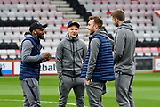 Danny Rose (3) of Tottenham Hotspur, Kieran Trippier (2) of Tottenham Hotspur , Christian Eriksen (23) of Tottenham Hotspur and Eric Dier (15) of Tottenham Hotspur on the pitch on arrival before the Premier League match between Bournemouth and Tottenham Hotspur at the Vitality Stadium, Bournemouth, England on 11 March 2018. Picture by Graham Hunt.