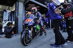 November 14, 2017 - Cheste, Spain - Maverick Vinales (Movistar Yamaha MotoGP)  during Motogp test day at Valencia circuit  (Credit Image: © Gaetano Piazzolla/Pacific Press via ZUMA Wire)