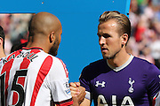 Sunderland Defender Younes Kaboul and Tottenham Hotspur forward Harry Kane during the Barclays Premier League match between Sunderland and Tottenham Hotspur at the Stadium Of Light, Sunderland, England on 13 September 2015. Photo by Simon Davies.