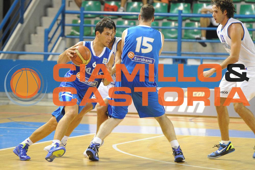 DESCRIZIONE : Cipro European Basketball Tour Italia Grecia<br /> GIOCATORE : Nikolaos Zisis<br /> CATEGORIA : Palleggio<br /> SQUADRA : Nazionale Italia Uomini <br /> EVENTO : European Basketball Tour <br /> GARA : Italia Grecia<br /> DATA : 05/08/2011 <br /> SPORT : Pallacanestro <br /> AUTORE : Agenzia Ciamillo-Castoria/GiulioCiamillo<br /> Galleria : Fip Nazionali 2011 <br /> Fotonotizia :  Cipro European Basketball Tour Italia Grecia<br /> Predefinita :