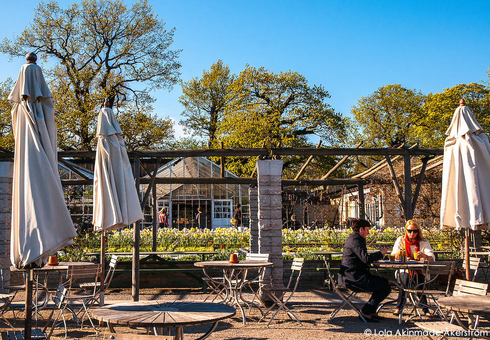 Outdoor sitting at Rosendals Trädgård & Kafe on Djurgården