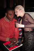 TAFARI HINDS; VICTORIA HIGGS, Ponystep - issue 3 launch party, George and Dragon, 2-4 Hackney Road, London, E2.  April 5 2012.
