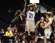 """Ole Miss' Danielle McCray (21) vs. Central Michigan at C.M. """"Tad"""" Smith Coliseum in Oxford, Miss. on Wednesday, December 14, 2011."""