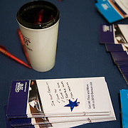 Materials detailing the U.S. Census' mission are on display at a job fair at the Rosslyn Holiday Inn in Arlington, VA on Friday, Jan. 15, 2010.