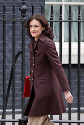 © Licensed to London News Pictures. 18/03/2014. London, UK. The Northern Ireland Secretary, Theresa Villiers, arrives for a meeting of the British cabinet on Downing Street in London today (18/03/2014). Photo credit: Matt Cetti-Roberts/LNP