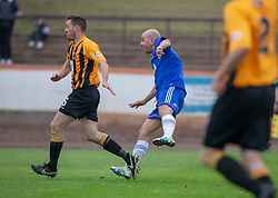 Cove Rangers Paul McManus scoring their third goal. Cove Rangers have become the SPFL's newest side and ended Berwick Rangers' 68-year stay in Scotland's senior leagues by earning a League Two place. Berwick Rangers 0 v 3 Cove Rangers, League Two Play-Off Second Leg played 18/5/2019 at Berwick Rangers Stadium Shielfield Park.