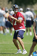 SAN DIEGO - JUNE 10:  Quarterback Philip Rivers #17 of the San Diego Chargers drops back to pass during minicamp at the San Diego Chargers Park practice field on June 10, 2006 in San Diego, CA. ©Paul Anthony Spinelli *** Local Caption *** Philip Rivers