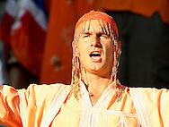 21-06-2008: Voetbal: Nederland-Rusland: Basel <br /> supporter in het oranje verkleed als gelovige<br /> Foto: Geert van Erven