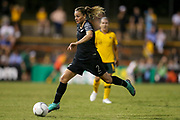 Ria Percival in possession during the Cup of Nations Women's Football match, New Zealand Football Ferns v Matildas, Leichhardt Oval, Thursday 28th Feb 2019. Copyright Photo: David Neilson / www.photosport.nz