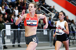 USATF Indoor Track and Field Championships<br /> held at Ocean Breeze Athletic Complex in Staten Island, New York on February 22-24, 2019; Maria Michta-Coffey, Oiselle, competes 5 months pregnant
