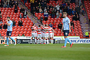 Doncaster Rovers Players Celebrate There 2nd Goal By No11  Andy Williams during the Sky Bet League 1 match between Doncaster Rovers and Coventry City at the Keepmoat Stadium, Doncaster, England on 23 April 2016. Photo by Stephen Connor.
