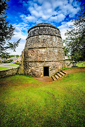 The doocot in the garden at Dirleton Castle, a ruined medieval fortress in the village of Dirleton, East Lothian, Scotland.<br /> <br /> (c) Andrew Wilson | Edinburgh Elite media