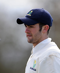 Glamorgan's Andrew Salter - Photo mandatory by-line: Harry Trump/JMP - Mobile: 07966 386802 - 24/03/15 - SPORT - CRICKET - Pre Season Fixture - Day 2 - Somerset v Glamorgan - Taunton Vale Cricket Club, Somerset, England.