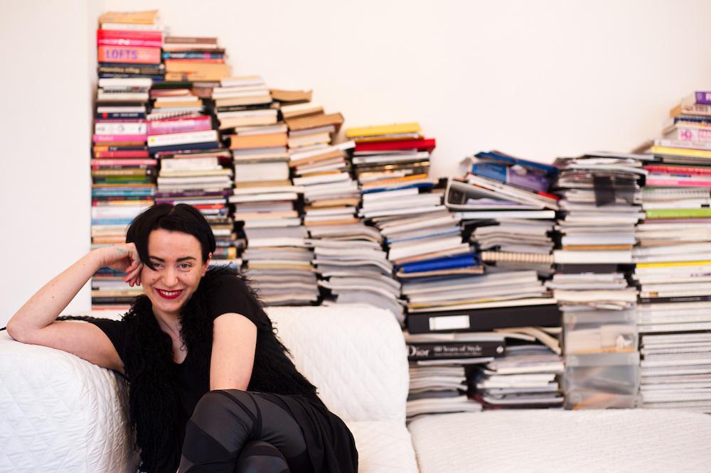 Fashion Designer Agnieszka Maciejak in her atelier in Warsaw