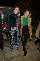 The Ivy Chelsea Garden's Guy Fawkes Party & Launch of The Winter Garden was held on 5th November 2016.<br /> Picture shows:- BECKY TONG and TESS WARD.
