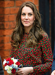© Licensed to London News Pictures. 19/12/2016. London, UK. CATHERINE, DUHESS OF CAMBRIDGE, leaves the Harrow Club in West London after attending a volunteer Christmas Party for youth helpline, The Mix with Prince William and Prince Harry.  Photo credit: Ben Cawthra/LNP