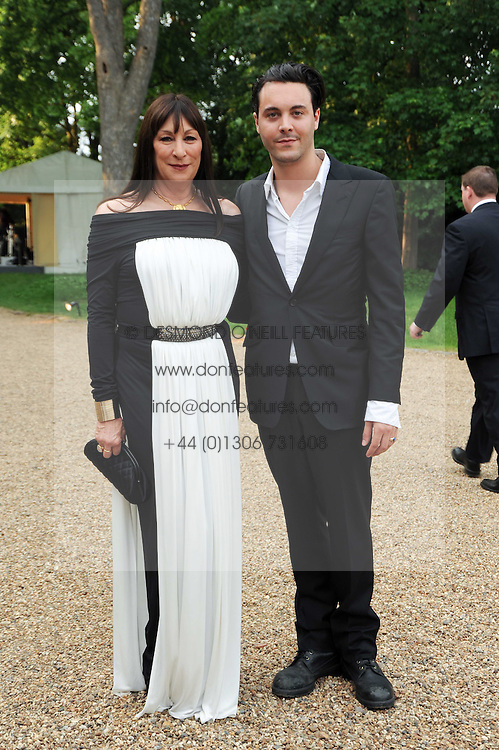 ANJELICA HUSTON and JACK HUSTON (check!) at the Raisa Gorbachev Foundation Party held at Stud House, Hampton Court Palace on 5th June 2010.  The night is in aid of the Raisa Gorbachev Foundation, an international fund fighting child cancer.