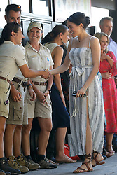 Duchess of Sussex meets local people along Kingfisher Bay Jetty on Fraser Island, Queensland, on day seven of the Duke and Duchess of Sussex's visit to Australia.