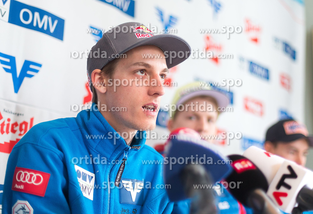 24.02.2015, Främby Udde Resort, Falun, SWE, FIS Weltmeisterschaften Ski Nordisch, Skisprung, Herren, Pressekonferenz, im Bild Gregor Schlierenzauer (AUT) // Gregor Schlierenzauer of Austria during the Austrias Mens Skijumping Pressconference of the FIS Nordic Ski World Championships 2015 at the Fraemby Udde Resort, Falun, Sweden on 2015/02/24. EXPA Pictures © 2015, PhotoCredit: EXPA/ JFK