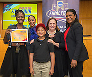 Young Elementary School is recognized during the reveal of the 32 finalists in the Houston ISD NCAA Read to the Final Four, November 11, 2015.