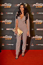 © Licensed to London News Pictures. 19/01/2018. London, UK. YAZMIN OUKHELLOU attends the world premiere of Fast & Furious live show at the O2. Cars will perform stunts and scenes capturing the spirit of the film series. Photo credit: Ray Tang/LNP