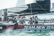 Emirates Team New Zealand, day four of the Land Rover Extreme Sailing Series regatta in Qingdao, China. 4/5/2014