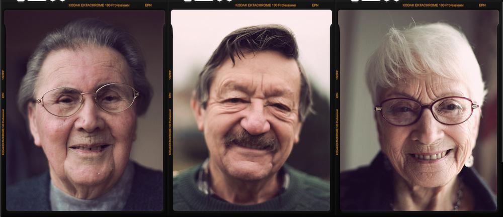 Portrait de personnes agees // Portraits of elderly people. France