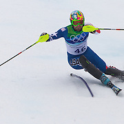 Winter Olympics, Vancouver, 2010.Nolan Kasper, USA,  in action during the Alpine Skiing, Men's Slalom at Whistler Creekside, Whistler, during the Vancouver Winter Olympics. 27th February 2010. Photo Tim Clayton