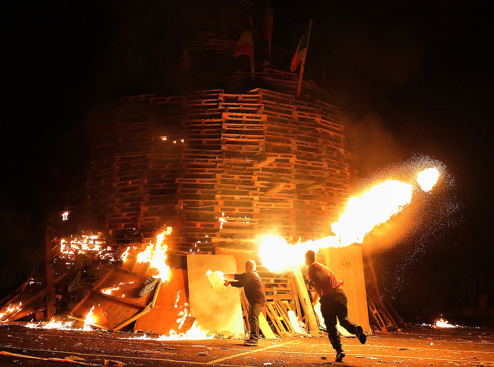 "Bonfire Night by the Sandy Row on the ""Eleventh"", Belfast"
