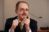 08 MAR 2012, BERLIN/GERMANY:<br /> Dr. Thomas Steffen, Staatssekretaer im Bundesministerium der Finanzen, waehrend einem Interview, in seinem Buero, Bundesministerium der Finanzen<br /> IMAGE: 20120308-02-009
