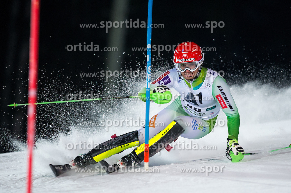 Miha Kuerner (SLO) during the 7th Mens' Slalom of Audi FIS Ski World Cup 2016/17, on January 24, 2017 at the Planai in Schladming, Austria. Photo by Martin Metelko / Sportida