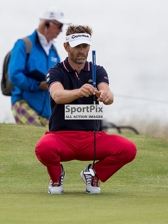 Aberdeen Asset Management Scottish Open 2015<br /> <br /> Rapha&euml;l JACQUELIN  during day 3 of the Aberdeen Asset Management Scottish Open played at Gullane Golf Course on 9-12 July 2015<br /> <br /> Picture: Alan Rennie
