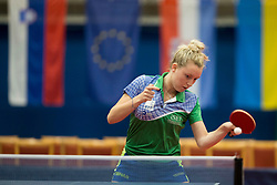 Katarina Strazar during Qualification match between National teams of Slovenia and Ukraina for ITTF European Championship 2019, on May 22, 2018 in Otocec, Slovenia. Photo by Urban Urbanc / Sportida