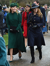 Royals attends Christmas Day Church service - 25 Dec 2018
